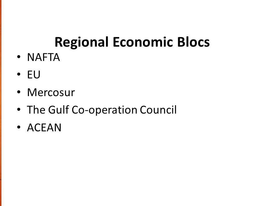 Regional Economic Blocs