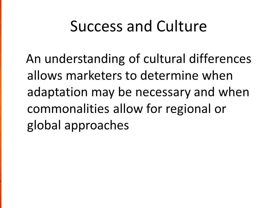 Success and Culture