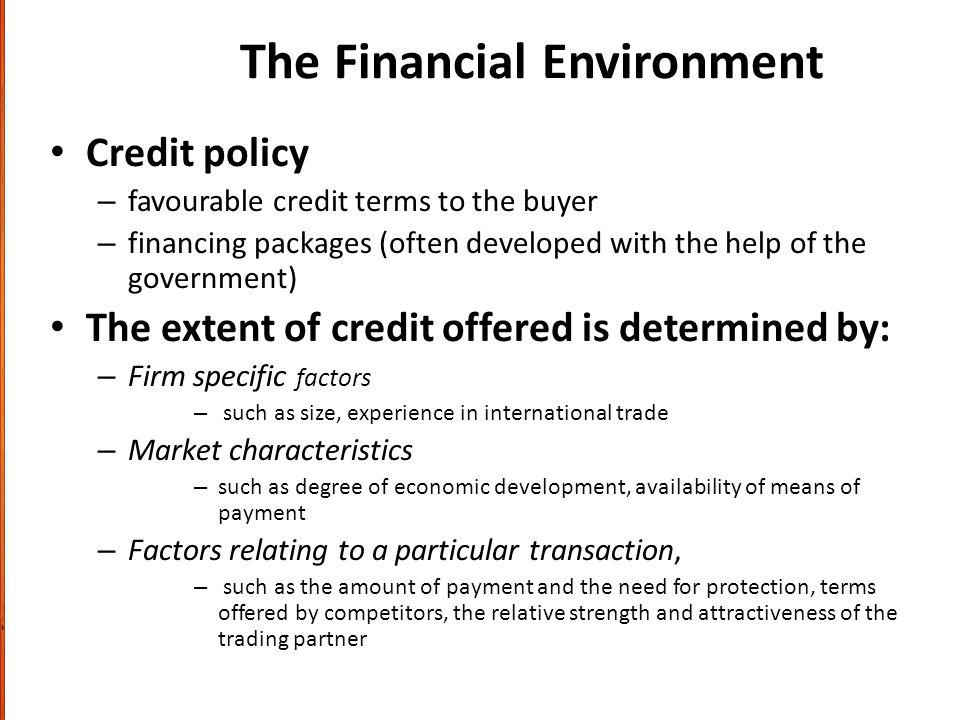 The Financial Environment