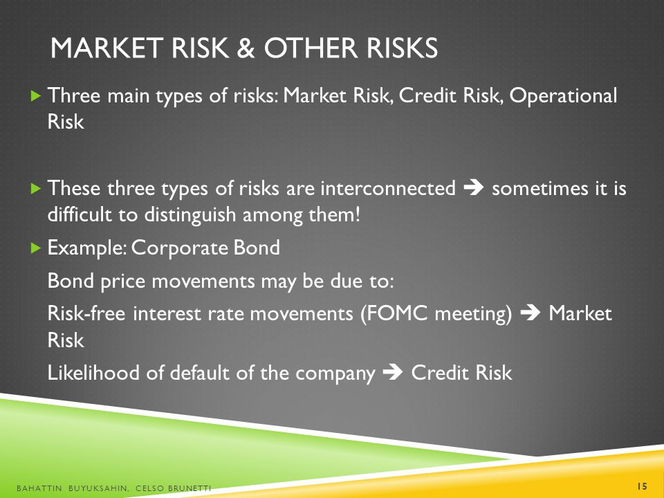 Market Risk & Other Risks