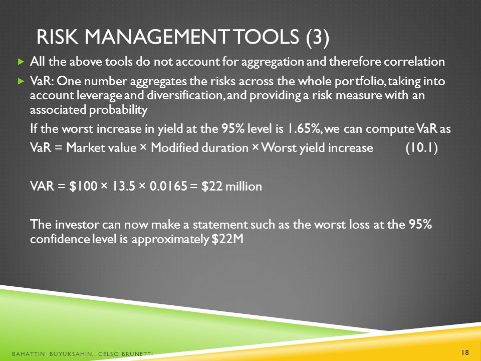 Risk Management Tools (3)