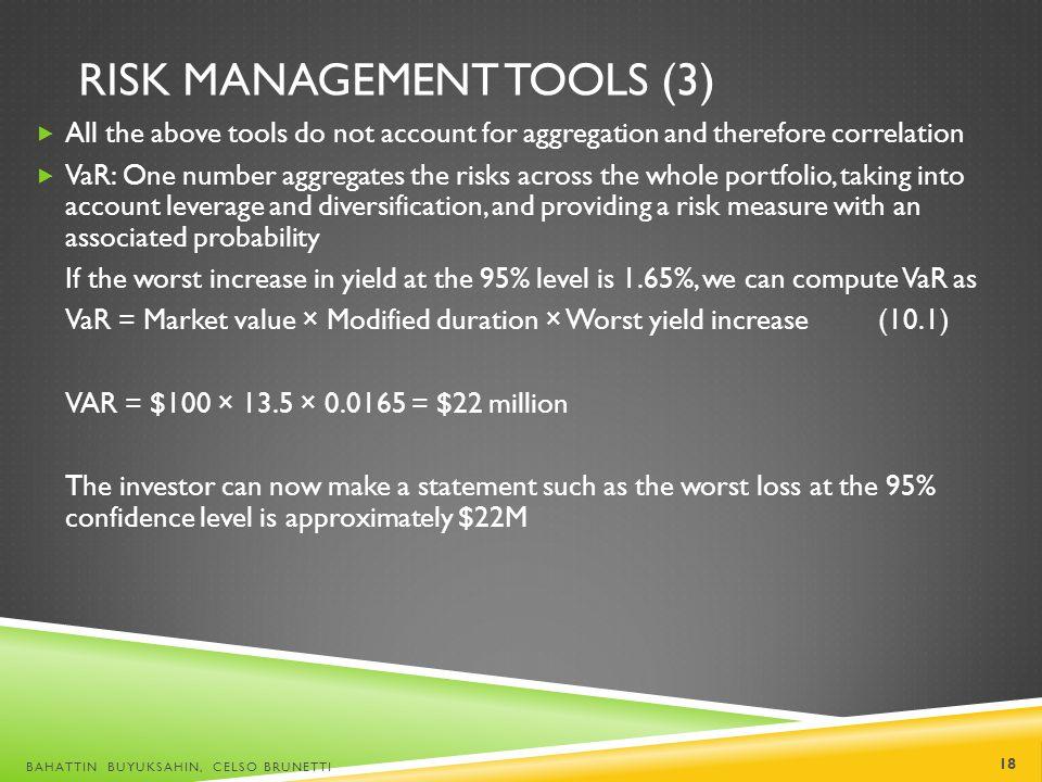 Risk Management Tools (3)