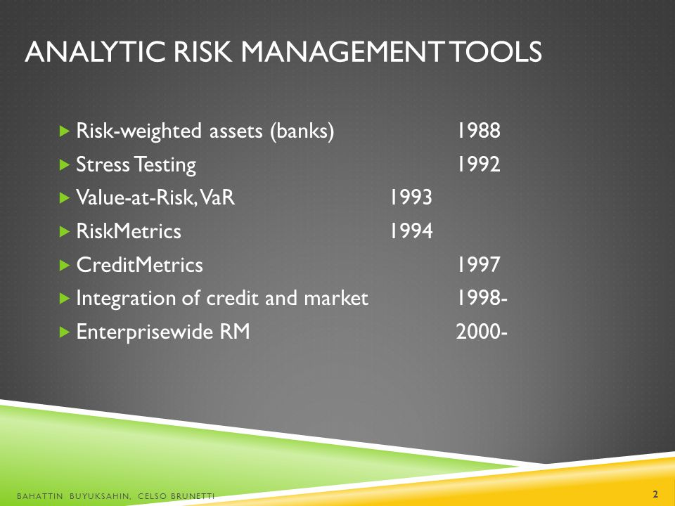 Analytic Risk Management Tools