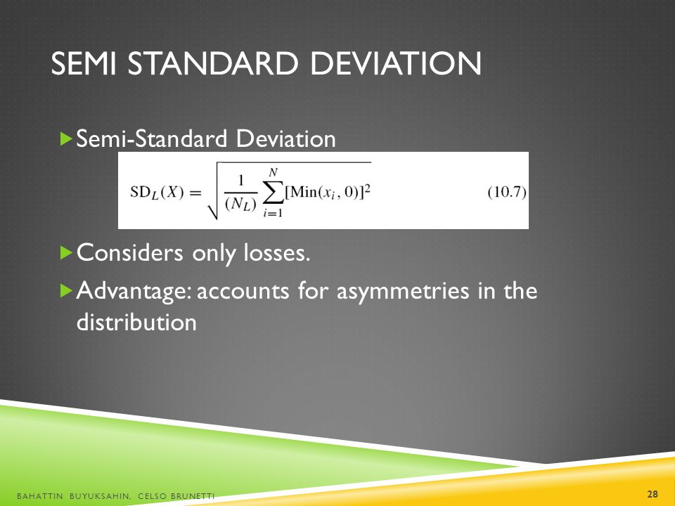 Semi Standard Deviation