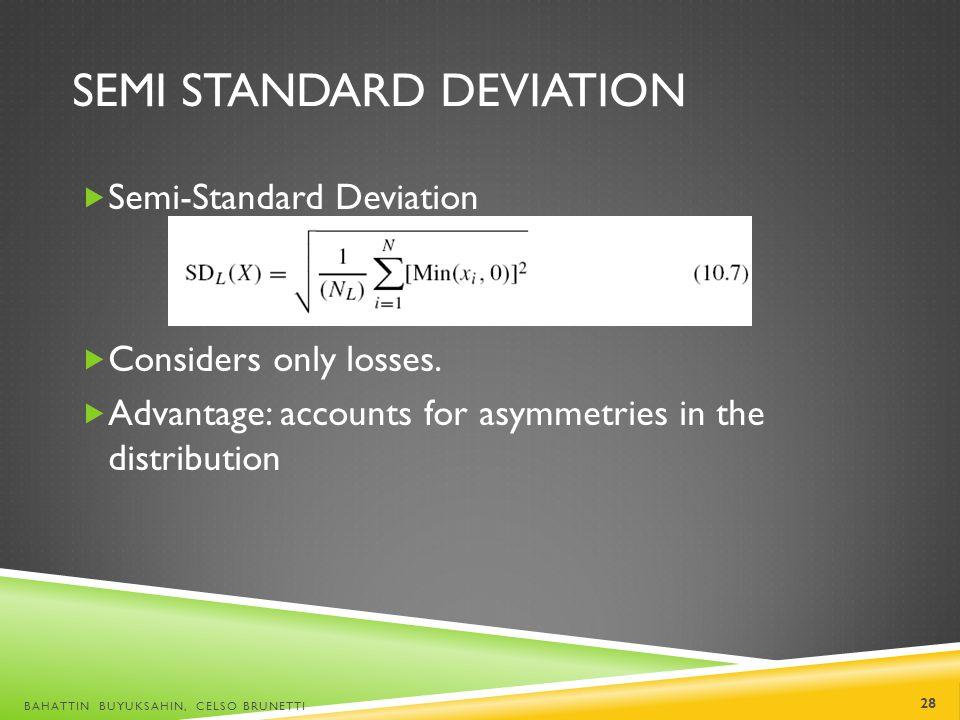 Semi Standard Deviation