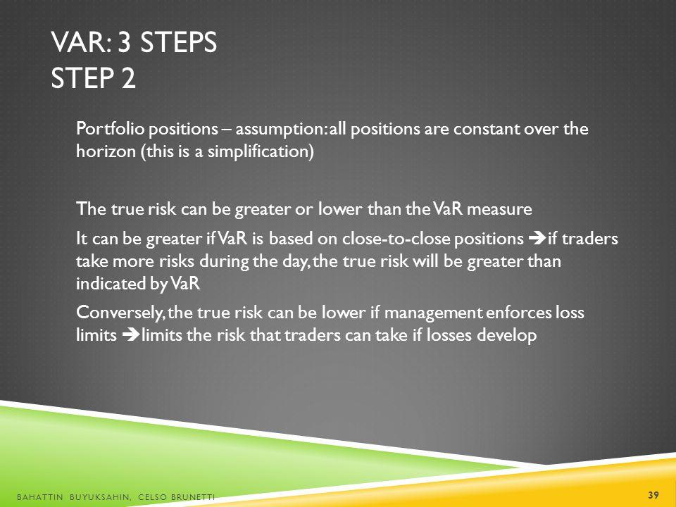 VaR: 3 steps Step 2