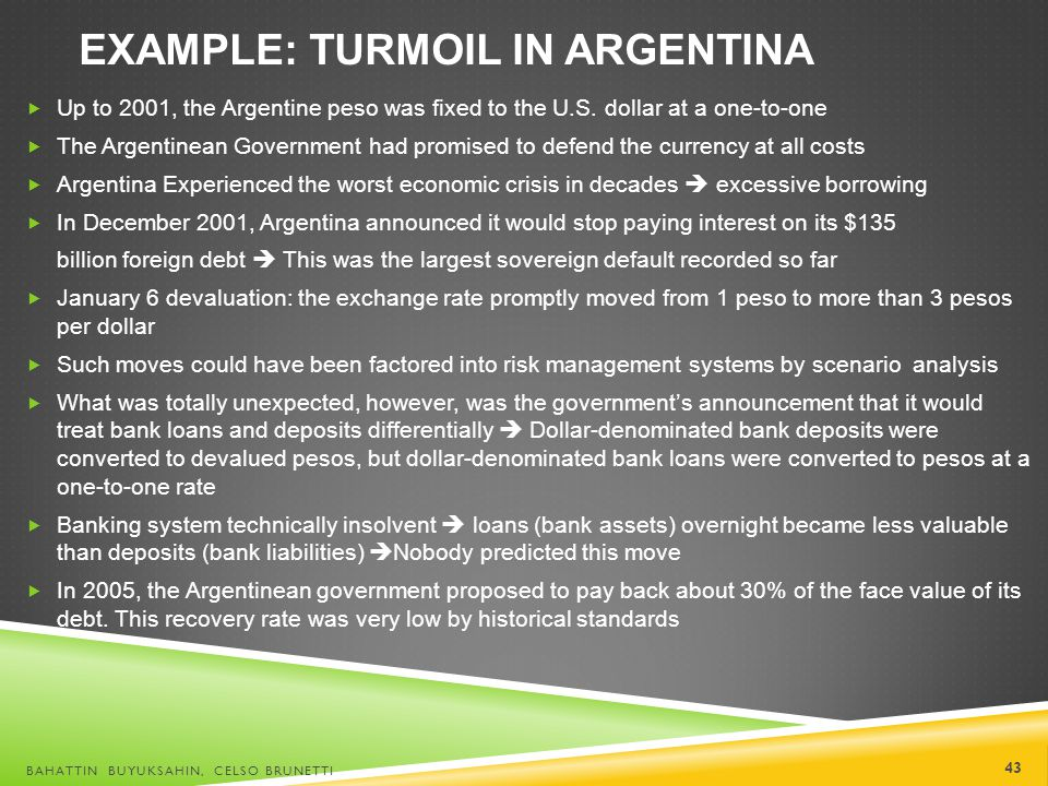 Example: Turmoil in Argentina