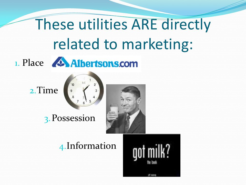 These utilities ARE directly related to marketing: