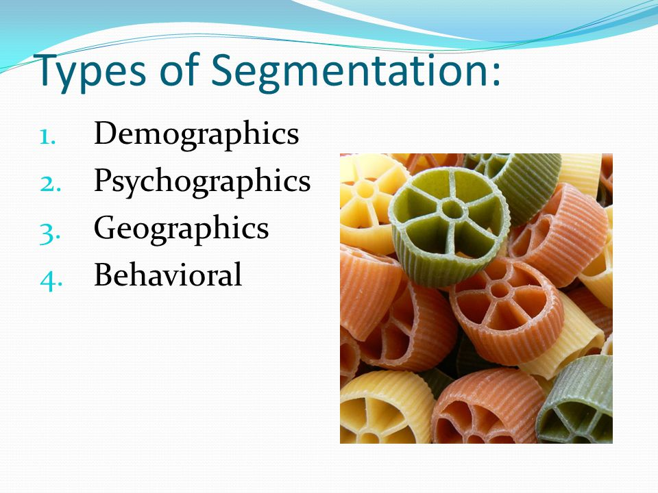 Types of Segmentation: