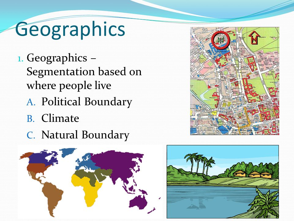 Geographics Geographics – Segmentation based on where people live