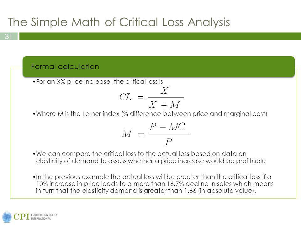 The Simple Math of Critical Loss Analysis