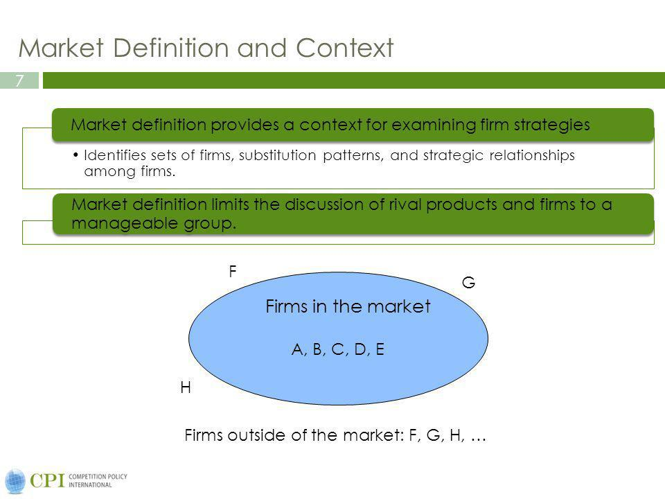 Market Definition and Context