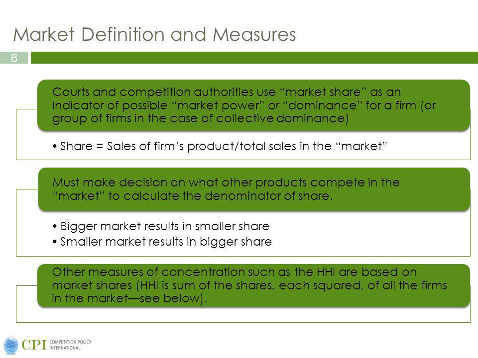 Market Definition and Measures