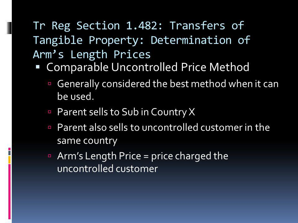 Comparable Uncontrolled Price Method