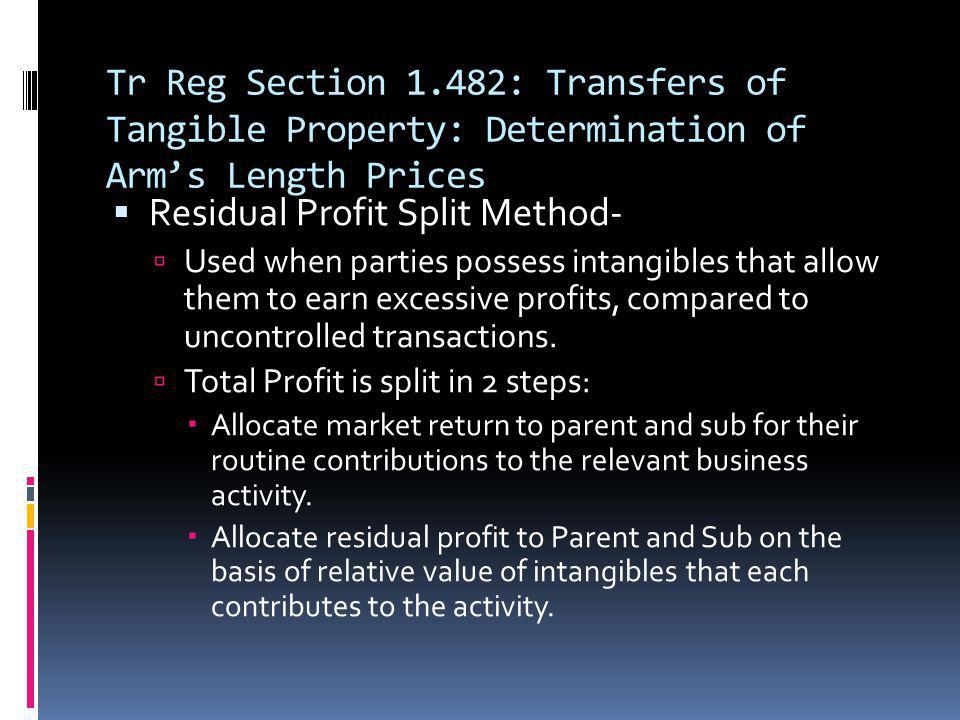 Residual Profit Split Method-