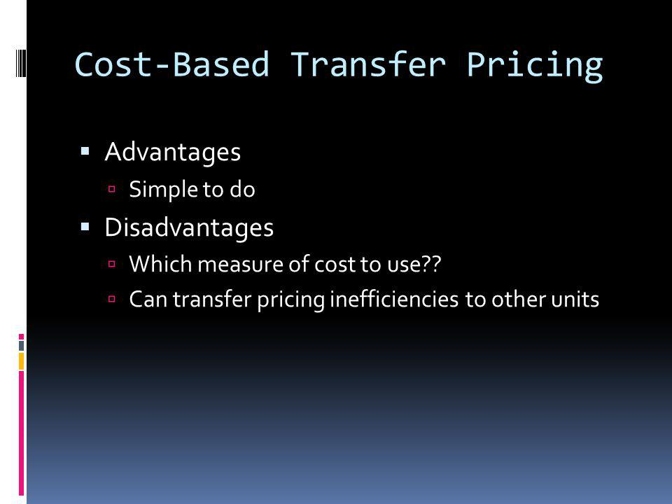 Cost-Based Transfer Pricing