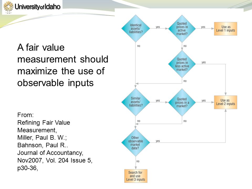 A fair value measurement should maximize the use of observable inputs