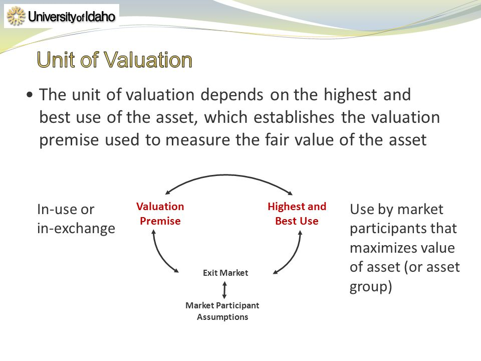 4/1/2017 Unit of Valuation.