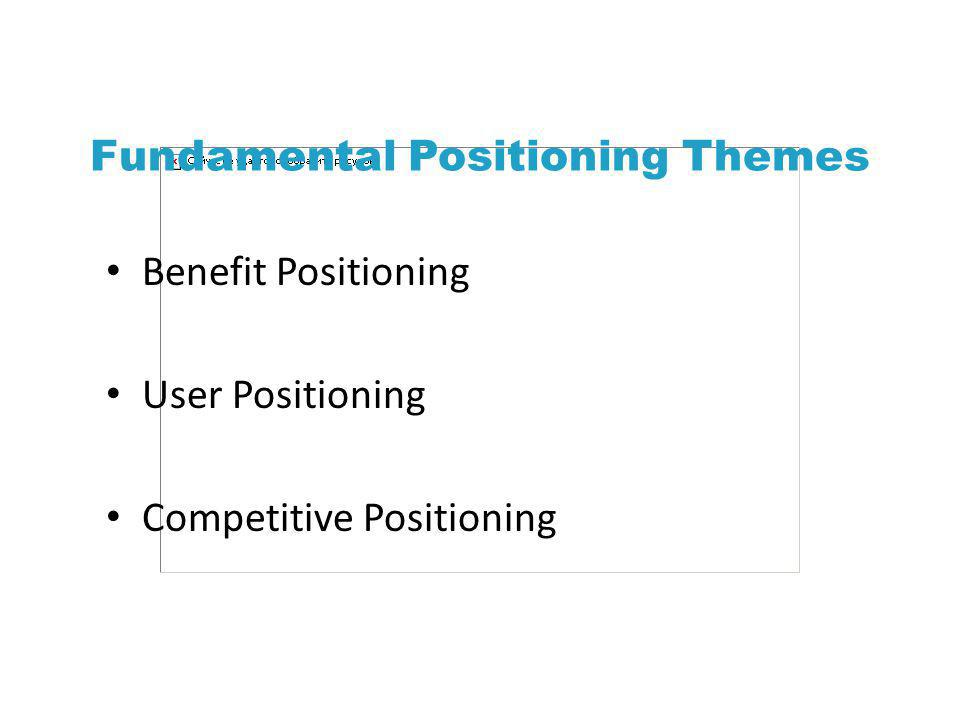 Fundamental Positioning Themes