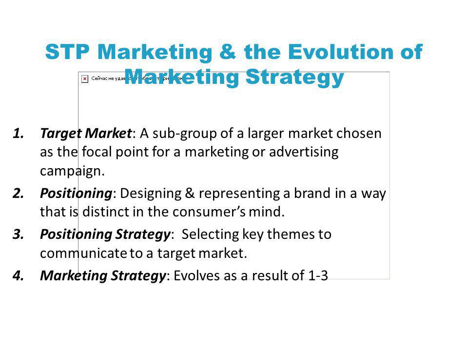 STP Marketing & the Evolution of Marketing Strategy