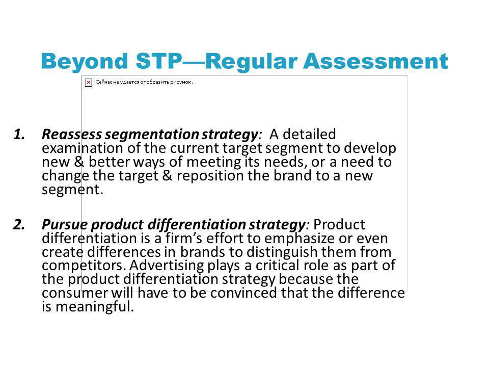 Beyond STP—Regular Assessment