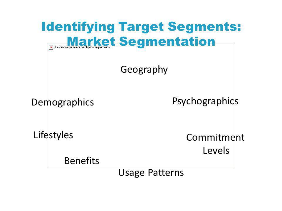 Identifying Target Segments: Market Segmentation