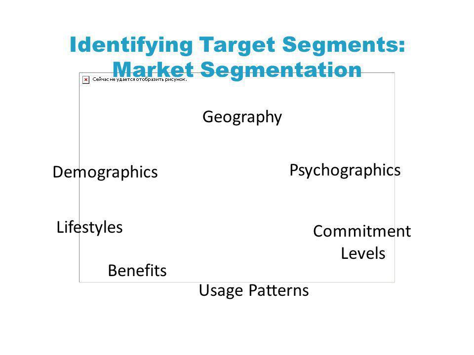 Identifying Target Segments: Market Segmentation