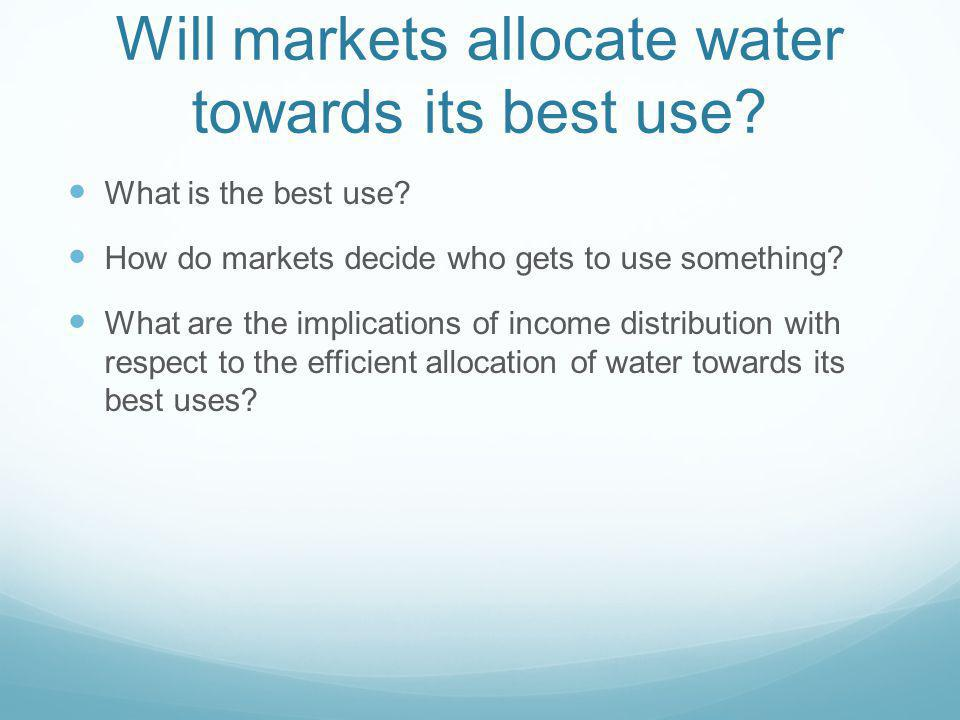 Will markets allocate water towards its best use