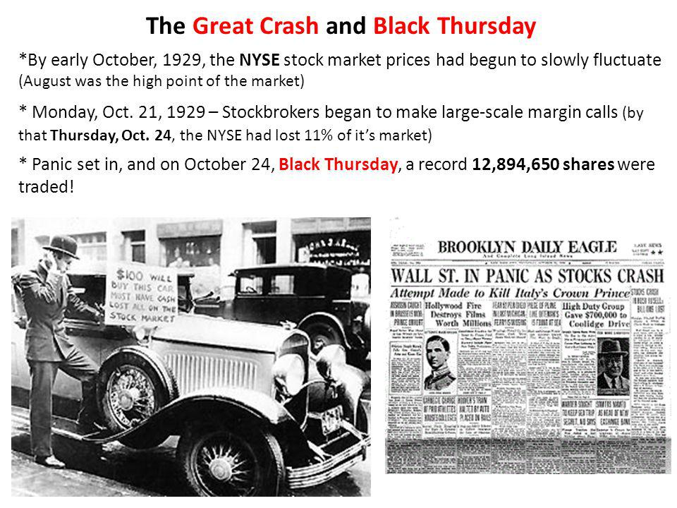 The Great Crash and Black Thursday
