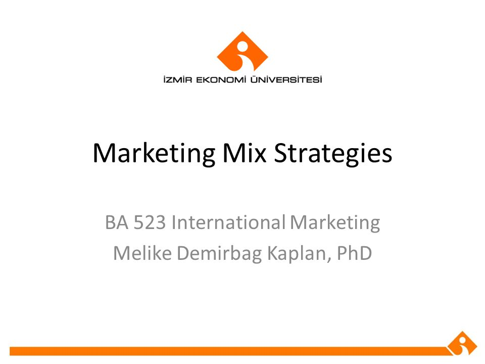 Marketing Mix Strategies