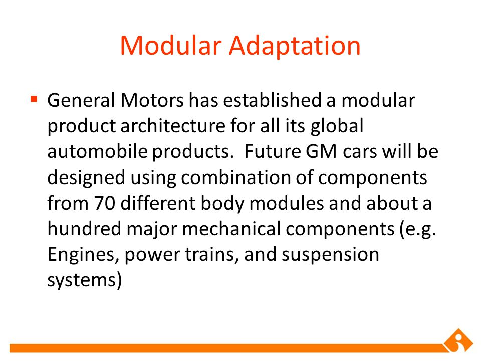 Modular Adaptation