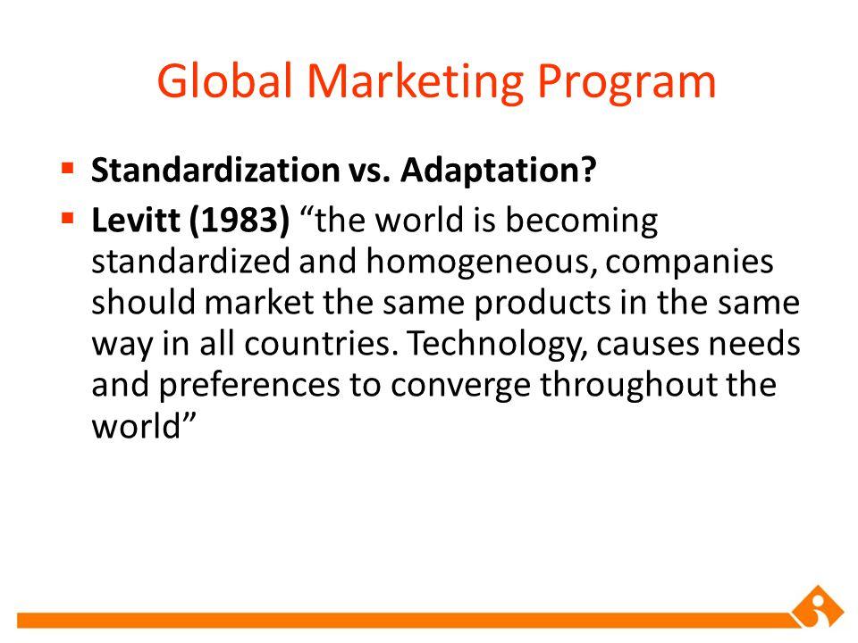 Global Marketing Program
