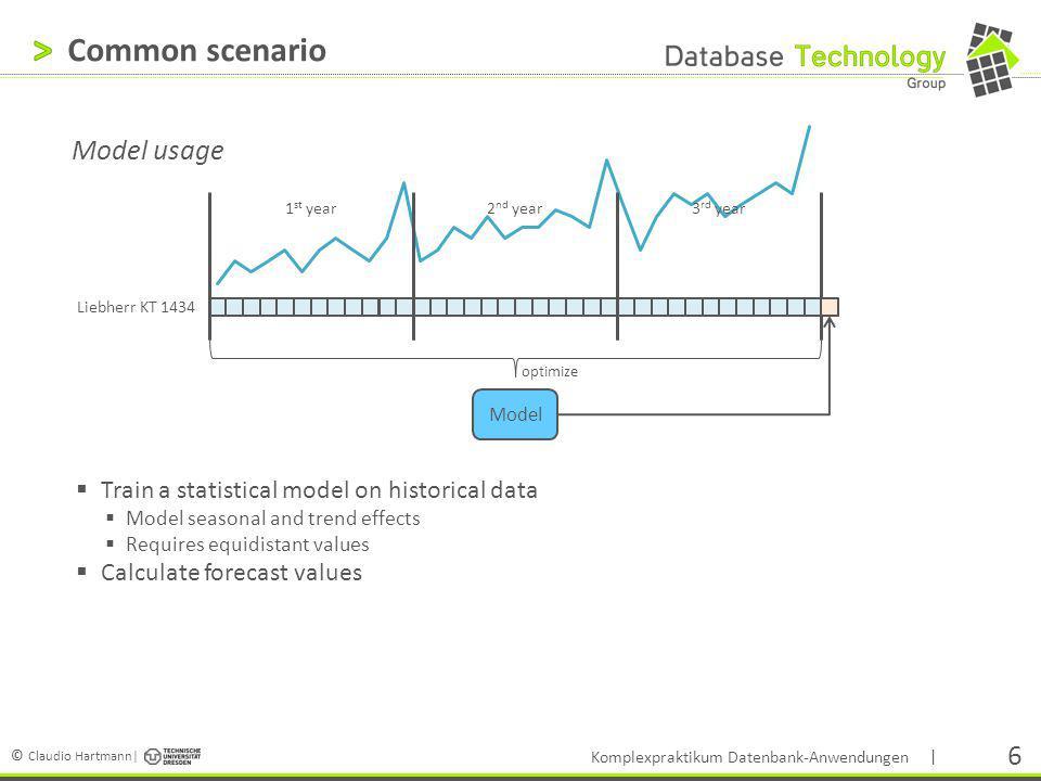 Common scenario Model usage