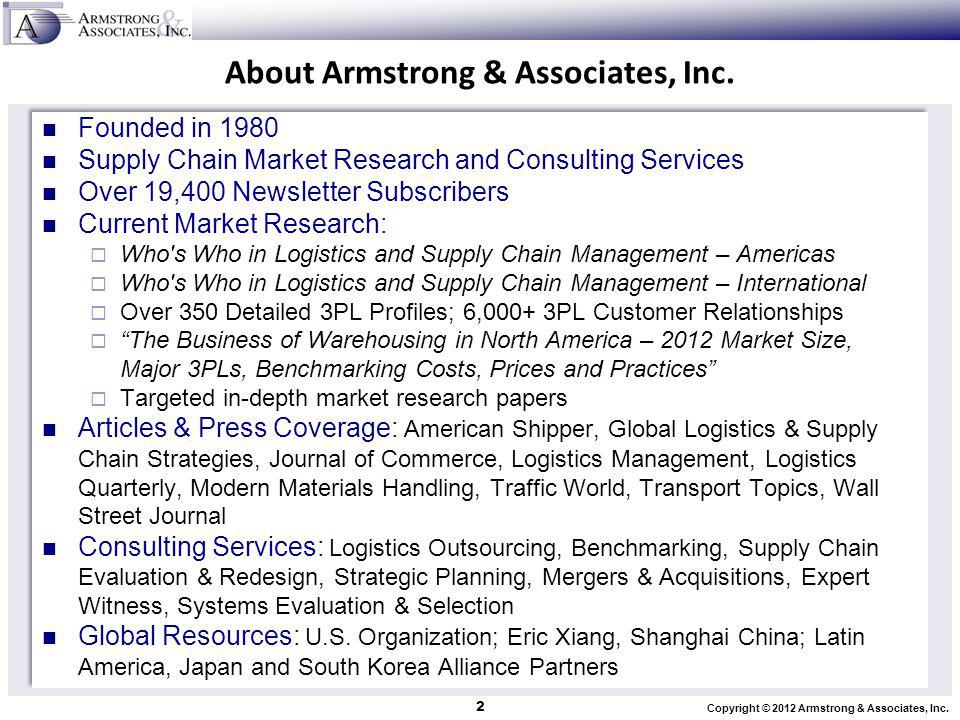 About Armstrong & Associates, Inc.