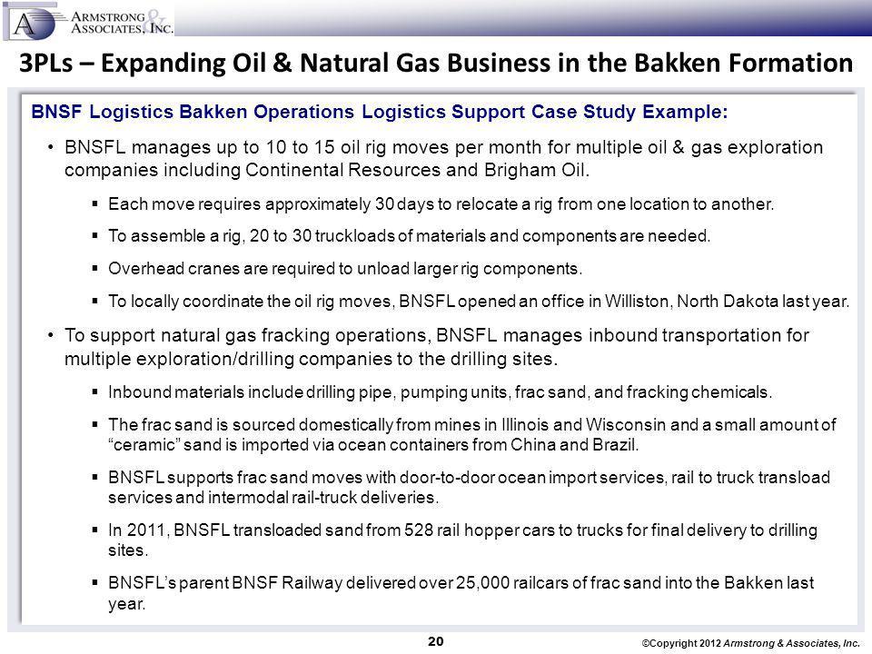 3PLs – Expanding Oil & Natural Gas Business in the Bakken Formation