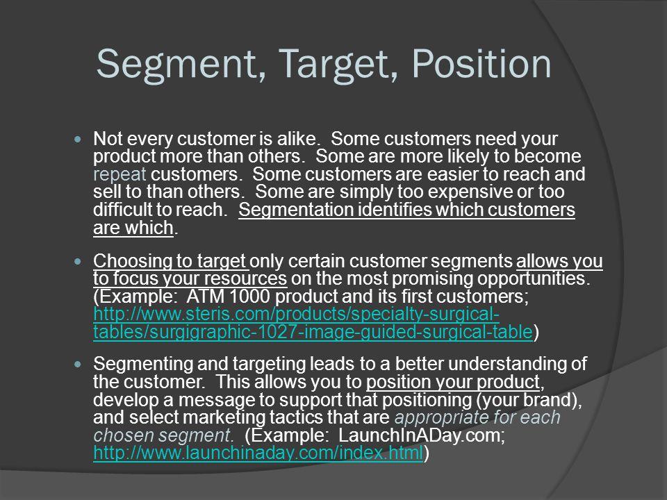 Segment, Target, Position