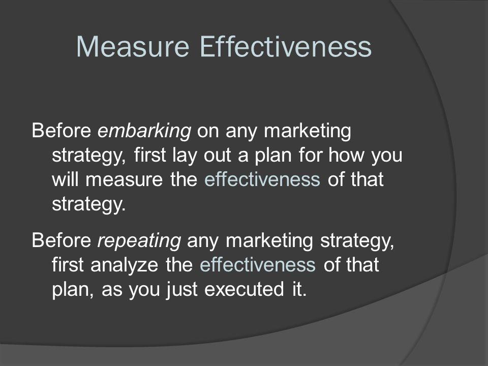 Measure Effectiveness