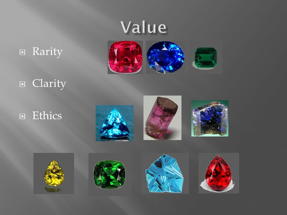 Value Rarity Clarity Ethics