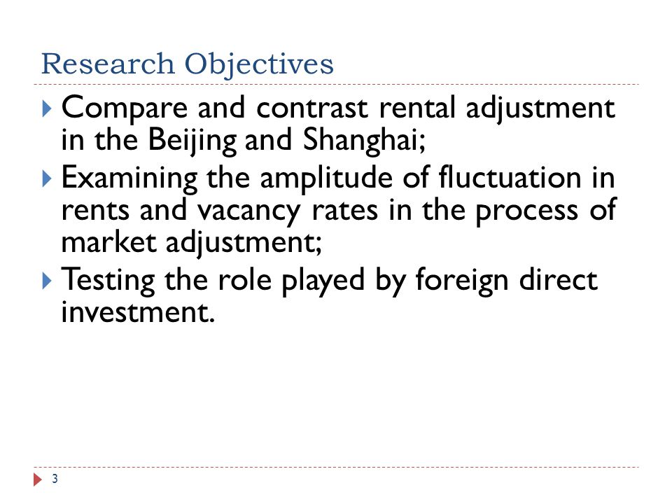 Compare and contrast rental adjustment in the Beijing and Shanghai;