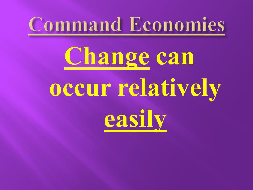 Change can occur relatively easily
