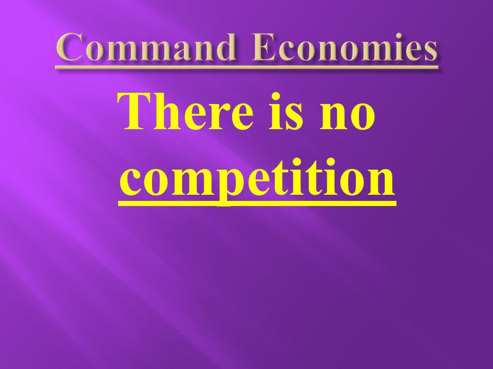 There is no competition