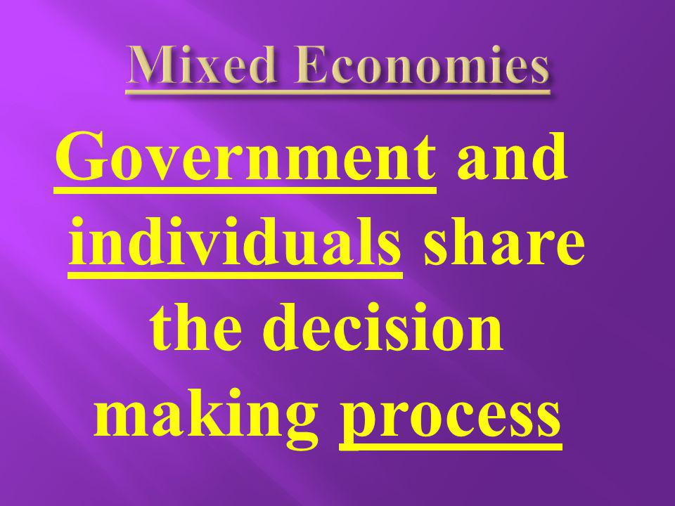 Government and individuals share the decision making process