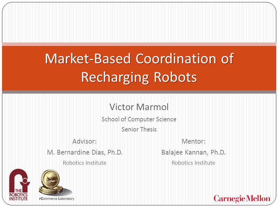 Market-Based Coordination of Recharging Robots