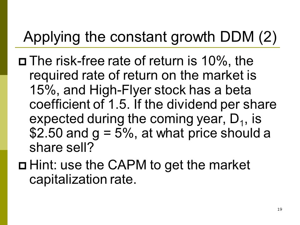 Applying the constant growth DDM (2)