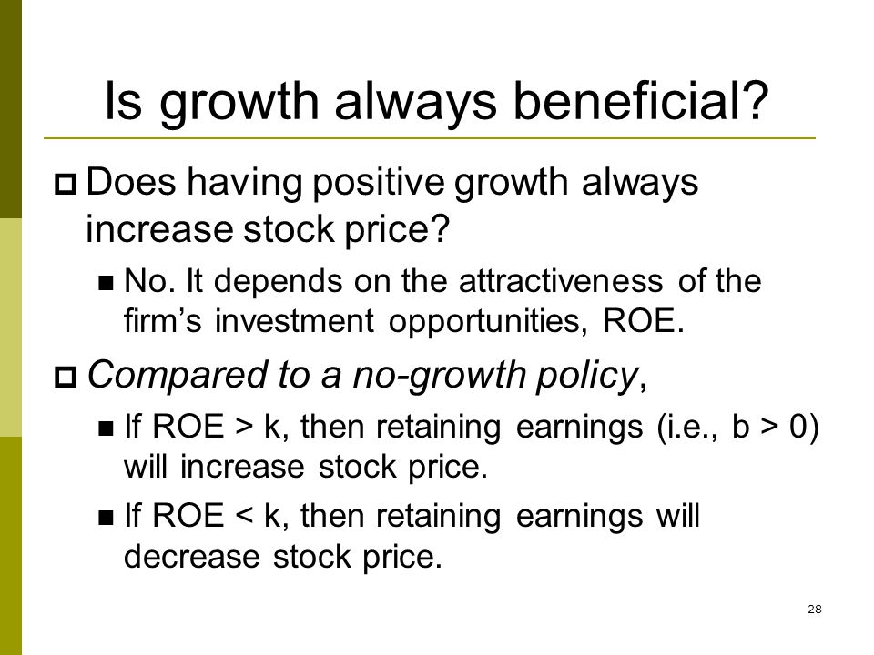 Is growth always beneficial
