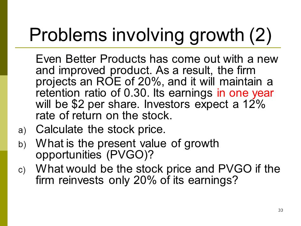 Problems involving growth (2)
