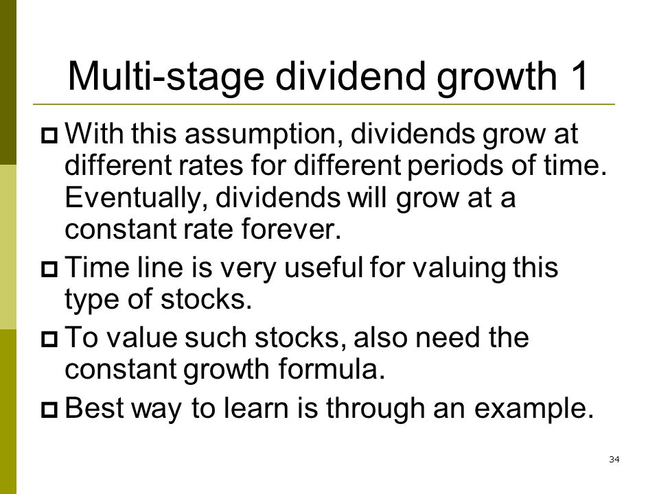 Multi-stage dividend growth 1