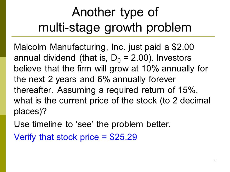 Another type of multi-stage growth problem