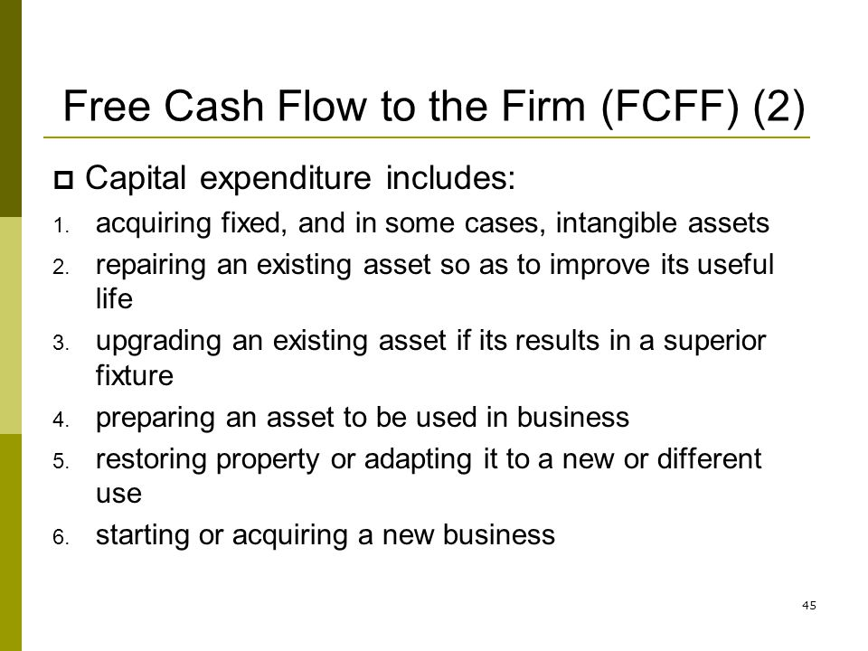 Free Cash Flow to the Firm (FCFF) (2)