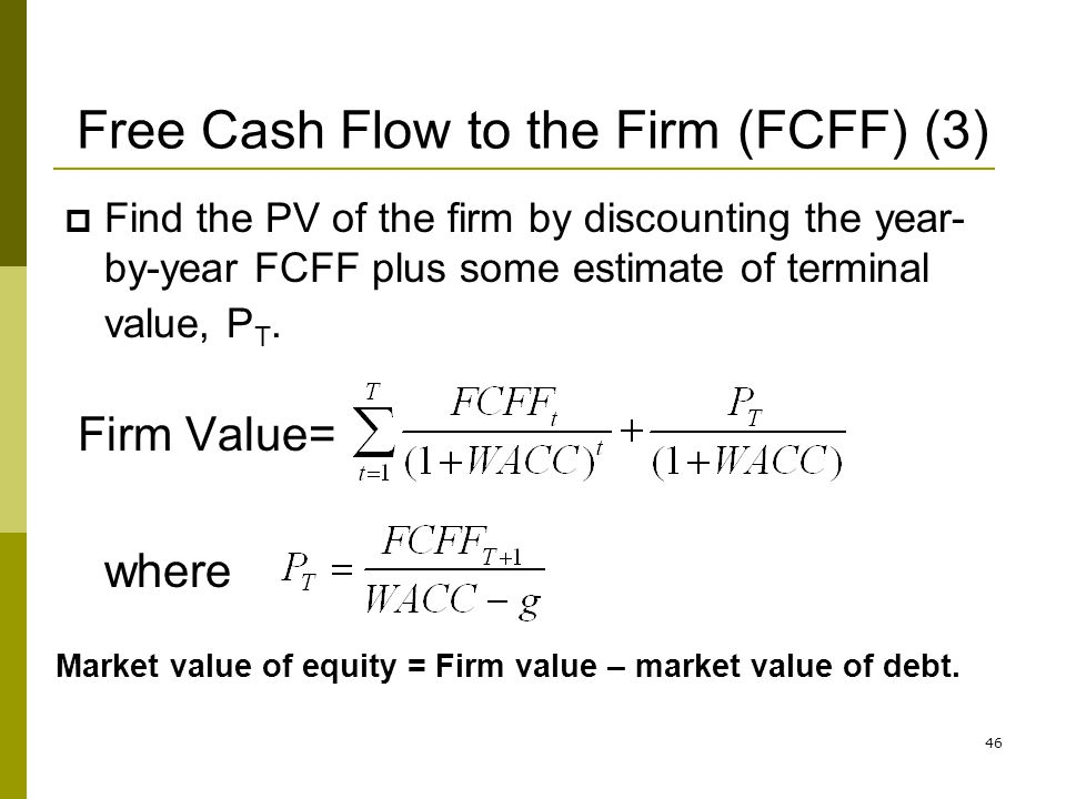 Free Cash Flow to the Firm (FCFF) (3)